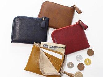 薄型ミニ財布!お札&カードも入って小銭も見やすい!7色展開(受注生産)の画像
