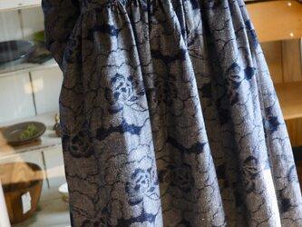 久留米絣反物二種からワンピースの画像
