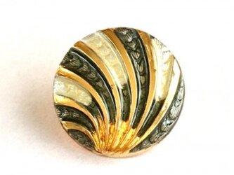 世界の飾りボタン ピンブローチ イエロー[mazp-100]の画像
