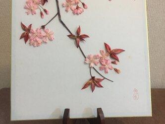 つまみ細工 桜 色紙大の画像