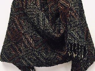 ■手織/thick&thin /スラブ糸ボリュウムストールの画像