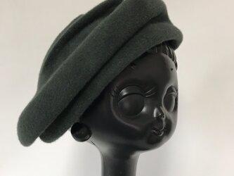 冬帽体ベレーの画像