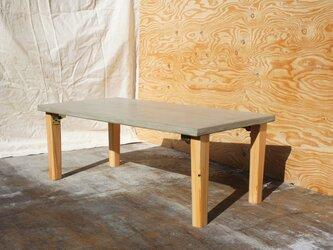 モルタルチックなローテーブル(折りたたみ式)の画像