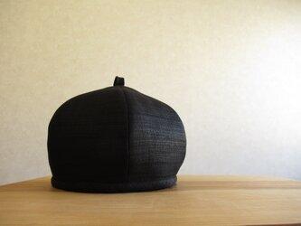 6枚はぎのベレー帽 プリペラリネン、ブラックの画像