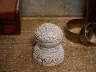 蓋物▫︎陶 ブルックリンスタイルの小物入れの画像