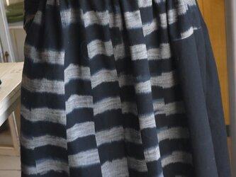 J様専用  色違い久留米絣反物二種からワンピースの画像