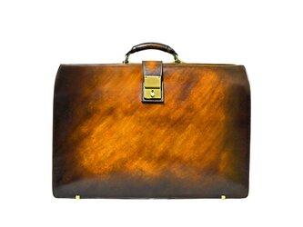 アクロモ ブラウン B4 ダレスバッグ / ドクターバッグ / 鞄 カバン アンティーク 茶 ムラ染め 本革 レザーの画像