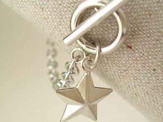 立体星 4ミリチェーン ブレスレットの画像