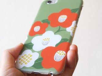 和な雰囲気の椿【Android系機種プラケース】の画像