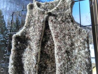 飛騨高山で生まれた肌にやさしい手紡ぎ糸のベビーベストの画像
