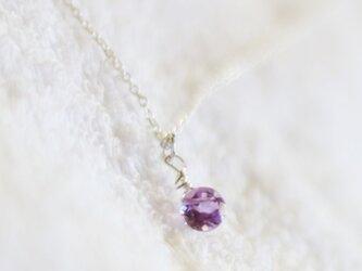 宝石質ピンクアメシストのチェーンネックレス(Silver925)の画像