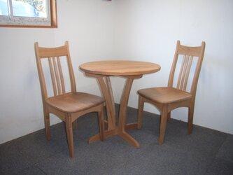 ティーテーブルセット(椅子2脚付き)の画像