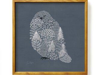 Poster + Frame 30 / Fluffy Snow owlの画像