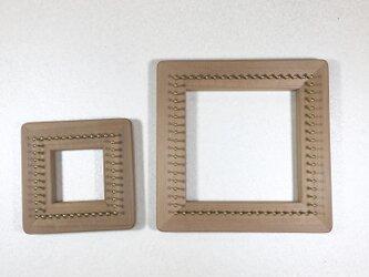 バイアス木枠  タイプ1  織り機  織り木枠  1セットの画像