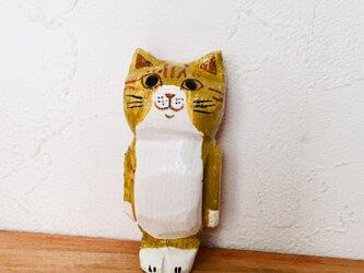 猫マグネット 茶トラの画像