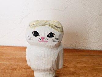 猫マグネット スコティッシュフォールドの画像