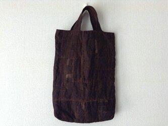 柿渋かばん - 柿渋染めの縦長トートバッグの画像