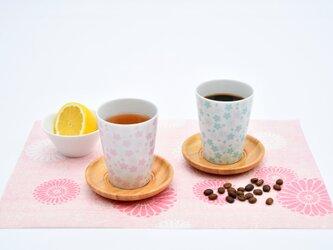 桜モチーフ カップ(HL) 水色の画像
