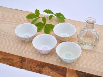 桜モチーフ カップ(L) 水色の画像