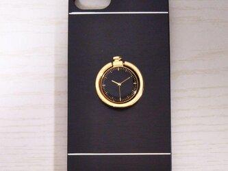 スタイリッシュ時計柄リング付きスマホケース(全機種対応)の画像
