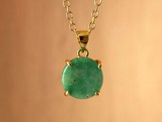 天然翡翠ネックレス2.56ct☆ ミャンマー産の原石から磨きましたの画像