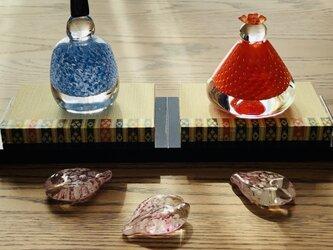 福ぷくガラスの雛人形 ◯□ (桃の節句)おひなさまの画像