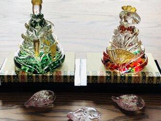 福ぷくガラスの雛人形 水中舞(桃の節句)おひなさまの画像