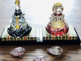 福ぷくガラスの雛人形 水中宮(桃の節句)おひなさまの画像