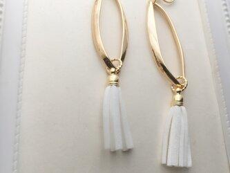 Design hoop & white tasselの画像
