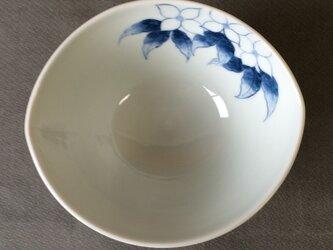 染付野の草花シリーズ だ円鉢 やまぼうしの画像