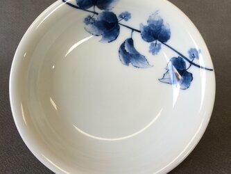 染付野の草花シリーズ 五寸皿 山葡萄の画像