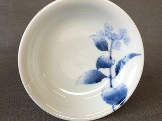 染付野の草花シリーズ 四寸皿 がくあじさいの画像
