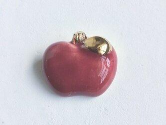 陶ブローチ 林檎の画像