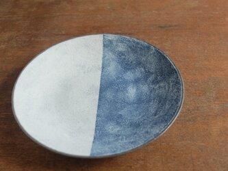 インディゴ 丸皿 半月 7寸の画像