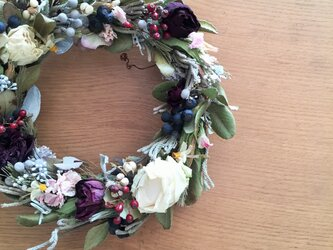 春を待つお部屋に飾るリース 直径22㎝の画像