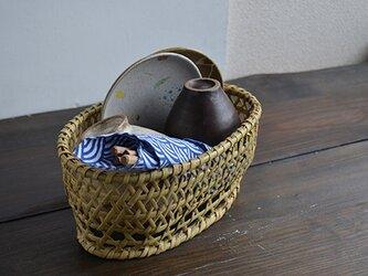 根曲がり竹椀かご(オーバル_小サイズ)の画像