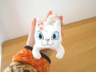 手乗りねこ12・ミルキー白猫ちゃん(ブルーアイ)の画像