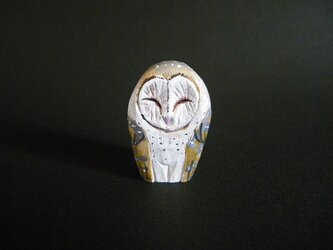 ふくろう(小) 細メンフクロウ 木彫りの画像