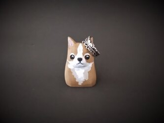 犬(小) チワワ リングホルダーにも♪ 木彫りの画像