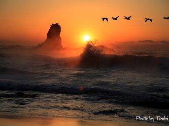 舞磯浜の朝 A3 プリントの画像