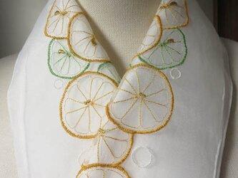 半衿・レモンとライム・オーガンジーの画像