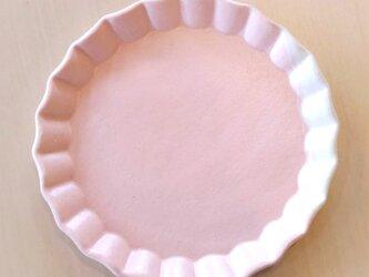 波型リムのケーキ皿(桜色)の画像