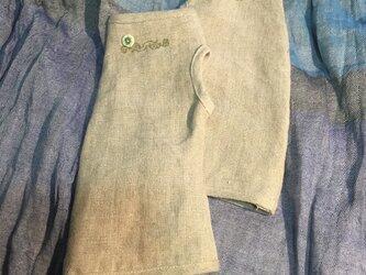 リネンの日除け手袋…ショート丈M…2の画像