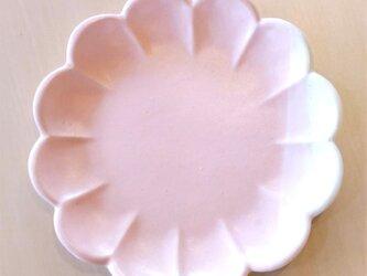 花形の平皿(桜色)の画像