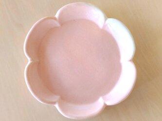 花形の小皿(桜色)の画像