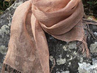 手織りヘンプストールUの画像