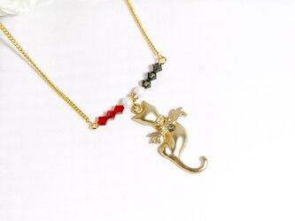 【1点のみ】天使猫のネックレス〔318〕の画像
