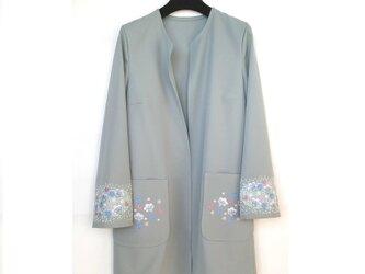 【受注製作】刺繍入りウールジャケット 花の森の画像