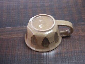 縦筋にマンガン埋め込みの面取りカップの画像