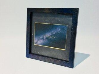 Galaxy Photo Frame (Medium size) / 銀河柄フォトフレームの画像